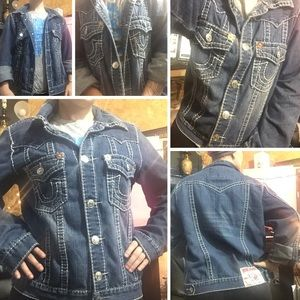 Vintage True Religion Flap Pocket Jean Jacket